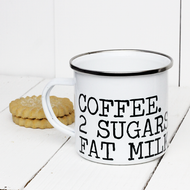 Personalised 'My Drink Instructions'  Enamel mug