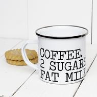 Personalised 'My Drink Instructions'  Enamel mug