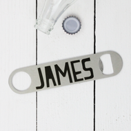Personalised 'Bold Name' Bottle Opener