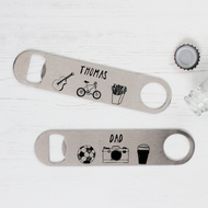 Personalised 'Name and Hobby' Bottle Opener