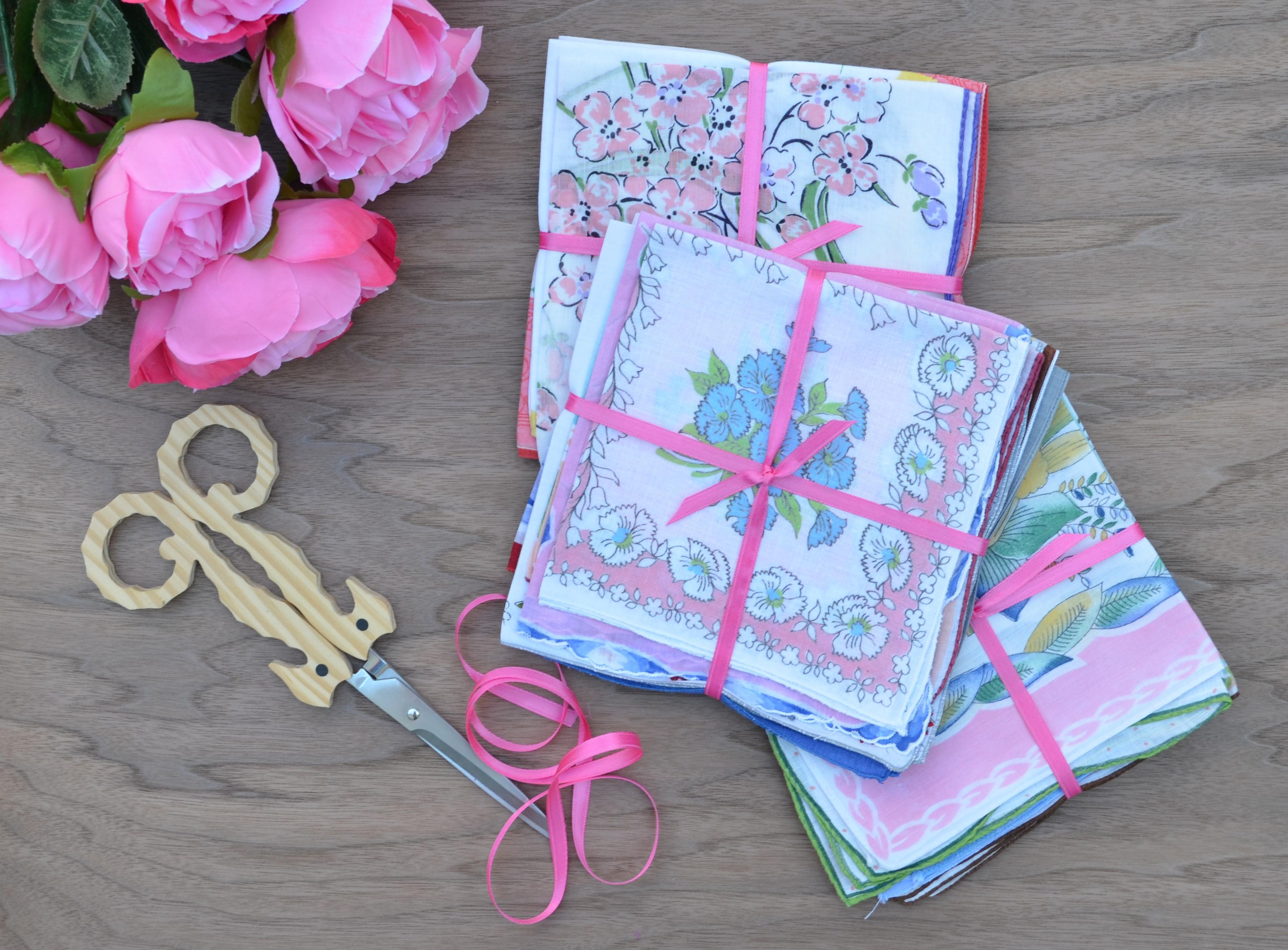 Vintage Handkerchief Bundles Wedding Tradition