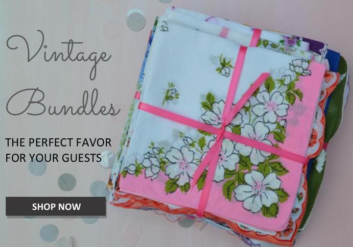 Vintage Handkerchief Favors