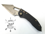 Microtech Stitch auto knife bronzed hardware (full serrated bronze blade) 169-15