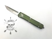 Microtech Ultratech OD Green Chassis (Stonewashed Tanto blade) 123-10OD