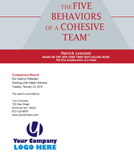 The Five Behaviors of a Cohesive Team Comparison Report