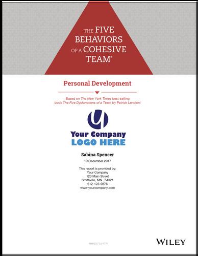 Five Behaviors Personal Development Profile
