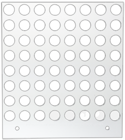 Primera Eddie Manual Tray 10/12mm 64 Circles (53259DTM-M0005)