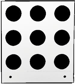 Primera Eddie Manual Tray 25mm 9 Circles (53259DTM-M0006)