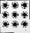 Primera Eddie Manual Tray 30mm 9 Circles (53259DTM-M0007)