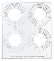 Primera Eddie Manual Tray 30/35/40/45/50/55mm 4 Circles (53259DTM-M0012)