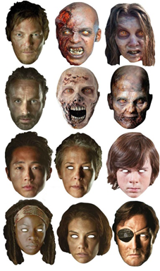 The Walking Dead Party Masks – Ultimate Pack