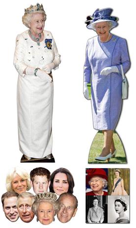 Lifesize cardboard cutouts get the royal treatment