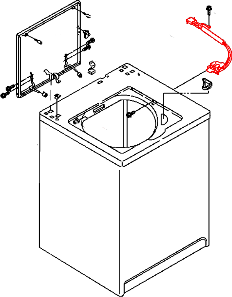 Whirlpool Washer Lid Switch Diagram
