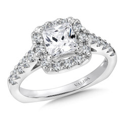 Valina Round Side Stone Engagement Ring R083W