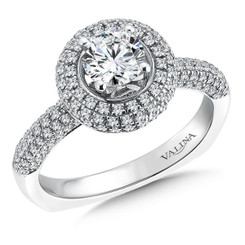 Valina Round Halo Engagement Ring R088W
