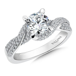 Valina Round Criss Cross Engagement Ring R098W