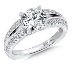 Valina Round Split Shank Engagement Ring R141W