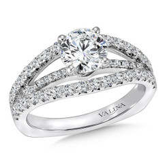 Valina Round Side Stone Engagement Ring R144W
