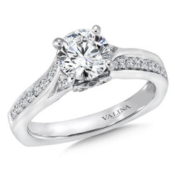Valina Round Split Shank Engagement Ring R148W