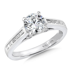 Valina Round Side Stone Engagement Ring R150W