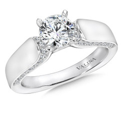 Valina Round Solitaire Engagement Ring R9069W