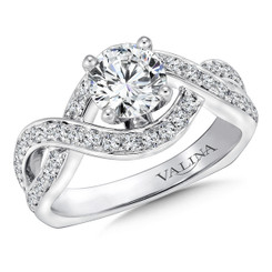 Valina Round Solitaire Engagement Ring R9245W