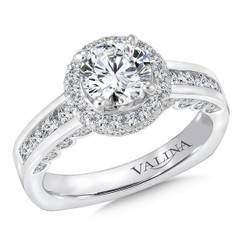 Valina Round Halo Engagement Ring R9254W