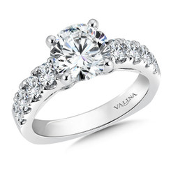 Valina Round Side Stone Engagement Ring R9294W