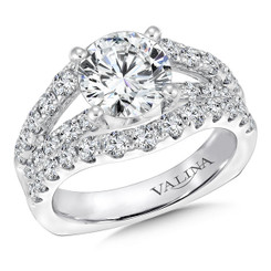 Valina Round Side Stone Engagement Ring R9302W