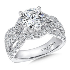 Valina Round Side Stone Engagement Ring R9303W