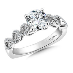 Valina Round Criss Cross Engagement Ring R9313W