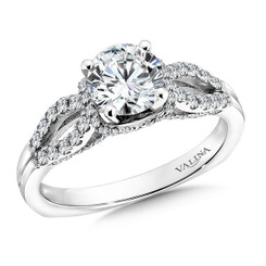 Valina Round Side Stone Engagement Ring R9339W