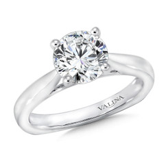 Valina Round Solitaire Engagement Ring R9360W
