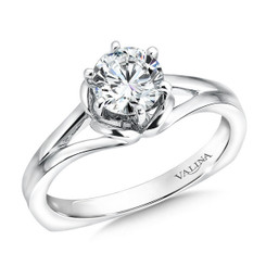 Valina Round Solitaire Engagement Ring R9372W