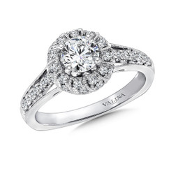Valina Round Halo Engagement Ring R9391W
