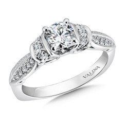 Valina Round Side Stone Engagement Ring R9392W