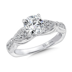 Valina Round Side Stone Engagement Ring R9393W
