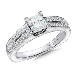 Valina Princess Cut Split Shank Engagement Ring R9397W