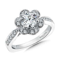 Valina Round Halo Engagement Ring R9399W
