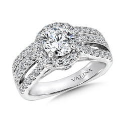 Valina Round Halo Engagement Ring R9403W