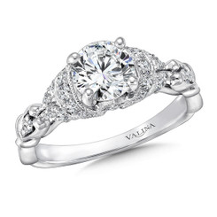 Valina Round Side Stone Engagement Ring R9405W
