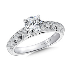 Valina Round Side Stone Engagement Ring R9415W