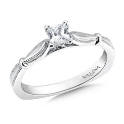 Valina Princess Cut Solitaire Engagement Ring R9416W-.33