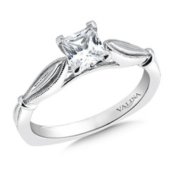 Valina Princess Cut Solitaire Engagement Ring R9416W-.625