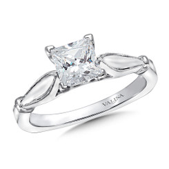 Valina Princess Cut Solitaire Engagement Ring R9416W-1.0
