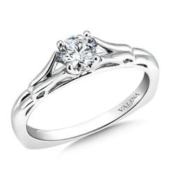 Valina Round Solitaire Engagement Ring R9418W-.33