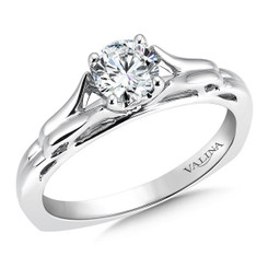 Valina Round Solitaire Engagement Ring R9418W-.625