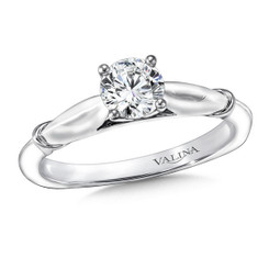 Valina Round Solitaire Engagement Ring R9424W-.625