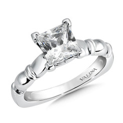 Valina Princess Cut Solitaire Engagement Ring R9431W-1.50