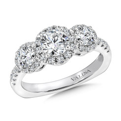 Valina Round 3 Stone Engagement Ring R9433W